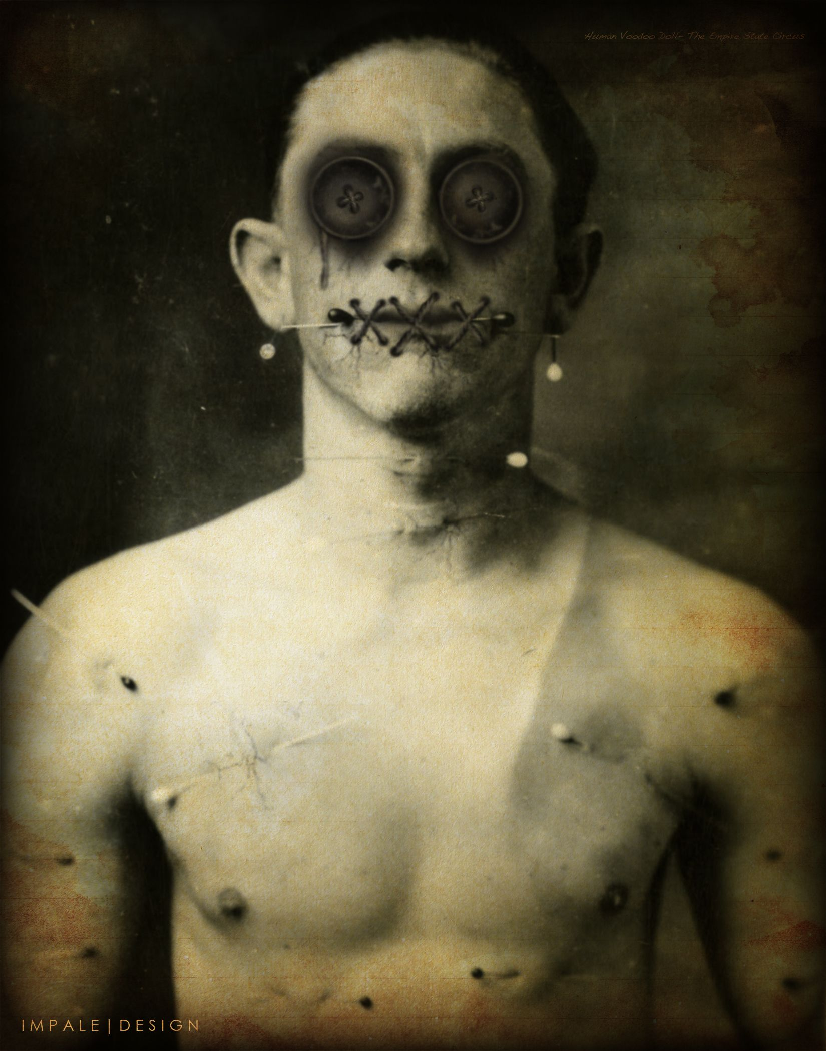 Human Voodoo Doll halloween costume
