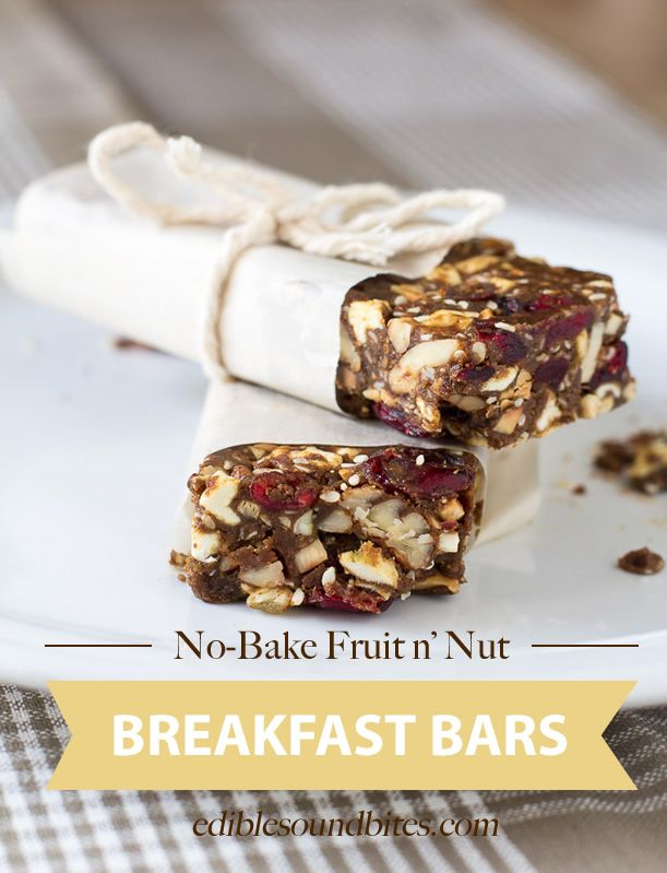No Bake Fruit N Nut Breakfast Bars Perfect For Day Hikes Long Drives And Early Mornings Fresh Fruit Recipes Food Processor Recipes Baked Fruit