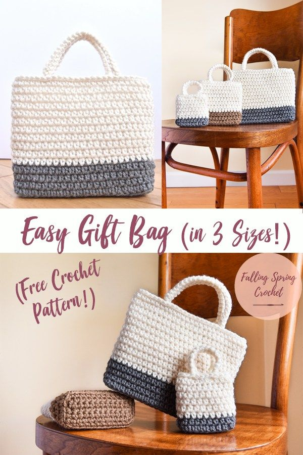 Easy Gift Bag Crochet Pattern FREE | haakpatroon | Pinterest ...