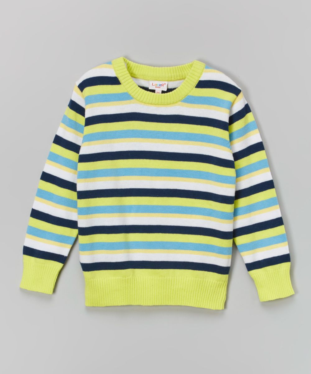 Blue & Yellow Stripe Sweater - Toddler & Boys | Boys, Toddlers and ...