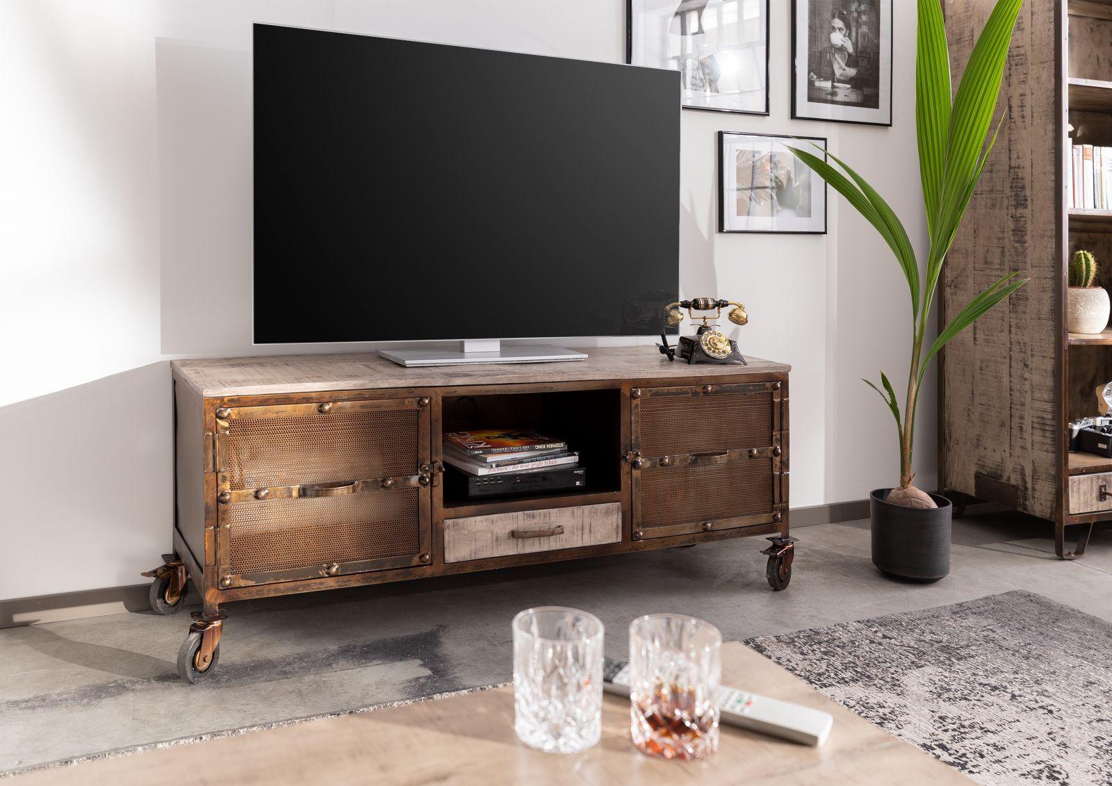Tv Board Mango 150x40x60 Braun Lackiert Heavy Industry 219 Tv