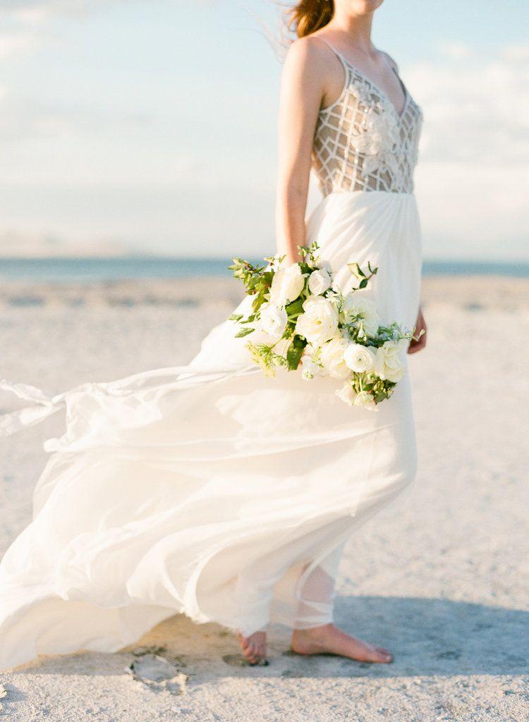 Hayley Paige Wedding Dress Beach Ideas Flowy White Bouquet Film Photography Nyc Photographer