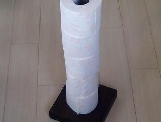 wooden toilet paper storage