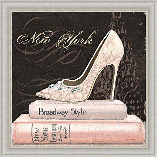 Amazon Com City Style Square Ii Marco Fabiano Diamond Pearl High Heel New York Fashion Art Print Framed Posters Prints Shoe Art Apple Art Print City Style