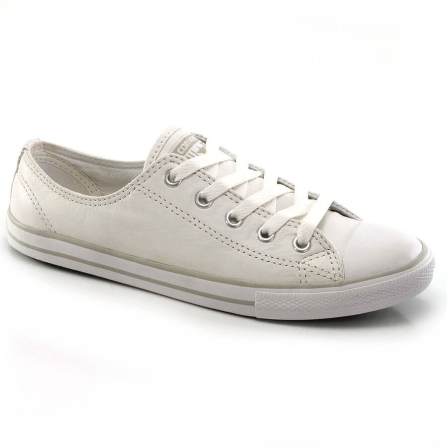 Tenis Converse All Star Ct Dainty Leather De Couro Way Tenis