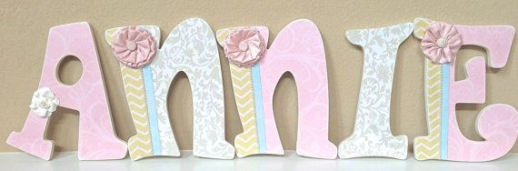 Custom Wooden Nursery Letters Baby Name by TheRuggedPearl on Etsy ...