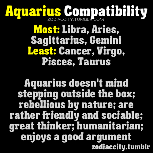 who does aquarius horoscope get along with