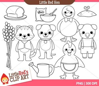 Little Red Hen Clipart Little Red Hen Red Hen Little Red Hen Story