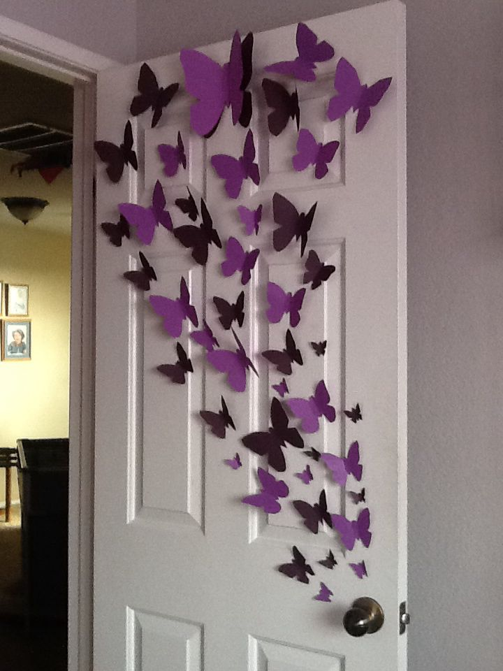 Paper Butterfly Wall Art Diy Pinterest Paper Butterflies
