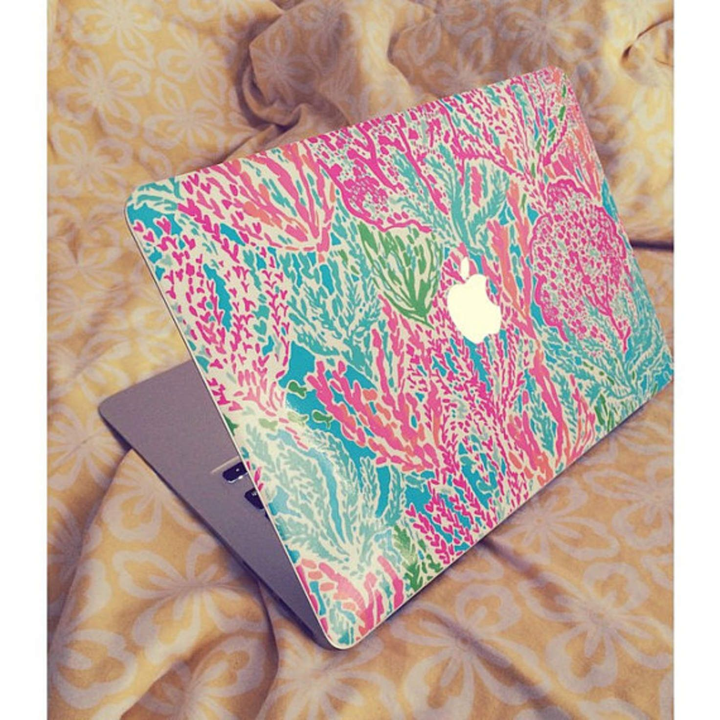 new style c9500 27d40 Lilly Pulitzer Inspired Macbook SKIN | accessories ✷ | Lilly ...