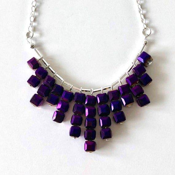 BURST Necklace Small Purple / Best Gifts for Women / Christmas Gifts for Women / Christmas Gift Ideas For Teens #christmasgiftideasforteens