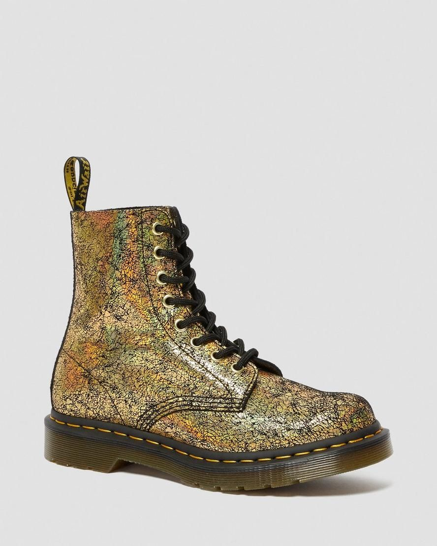 Dr martens 1460 pascal metallic leather lace up boots