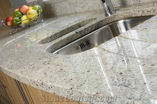 Kashmir White Granite Countertops Prefab Granite Kitchen Countertop India White Prefab Countertop Moon White Granite White Granite Countertops Granite Kitchen