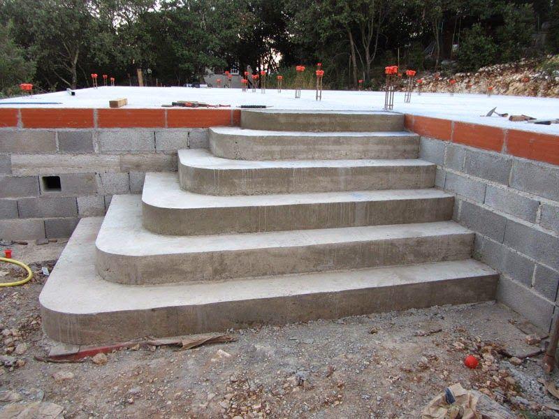 Construire un escalier en b ton de type for Cout escalier exterieur