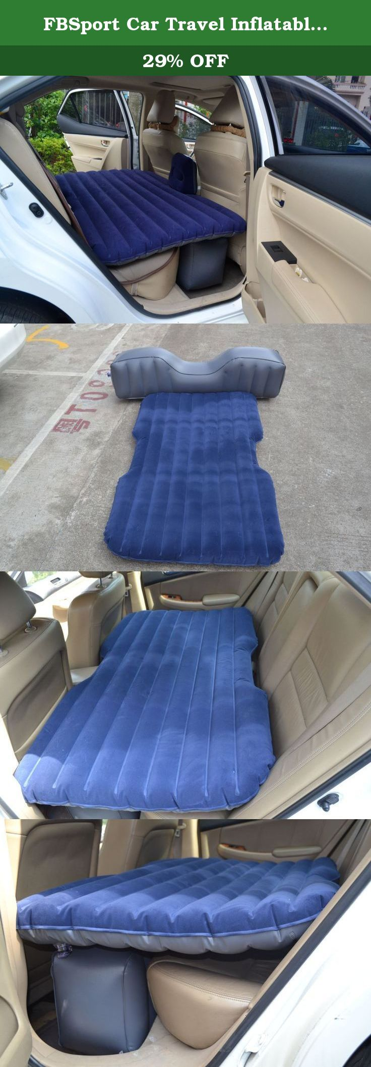 FBSport Car Travel Inflatable Mattress Air Bed Cushion Camping Universal SUV Back Seat Extended Air Couch with Two Air Pillows. This type of vehicle-mounted travelling inflatable bed is in common use in any mainstream models of cars and SUV. (Unavailable for the rear middle bridge which is particularly high and microminiature cars), Great for camping, festivals, surf trips, travel, and adventures Inflatable mattress flat, wide and comfortable FUNCTION: Color: AS PICTURE Material…