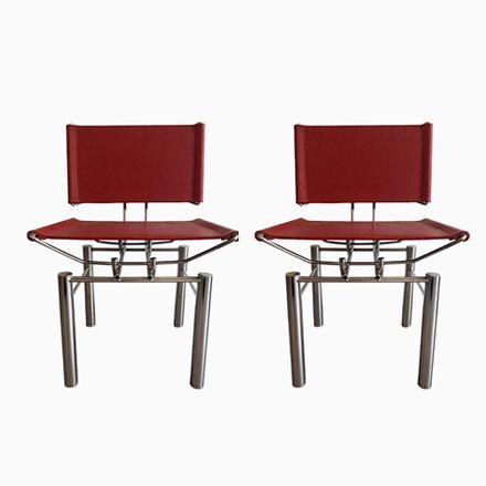 Series 8600 Stühle von Hans Ulrich Bitsch für Kusch & Co, 2er Set ...
