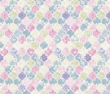 Vintage Pastel Floral Moroccan Tiles by micklyn