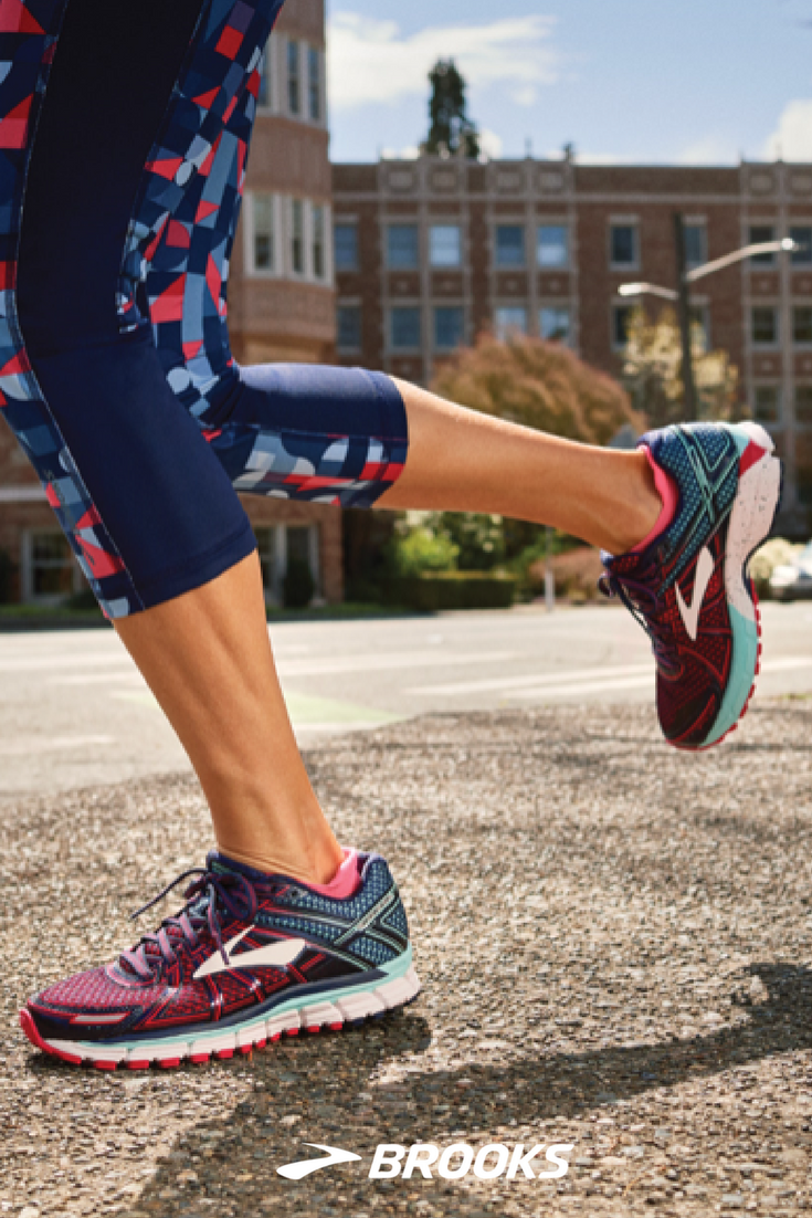 Running Is Smooth Sailing With The Adrenaline Gts 17 Shoe For Women Its Proven Balance Of Plush Brooks Running Shoes Women Brooks Running Brooks Running Shoes