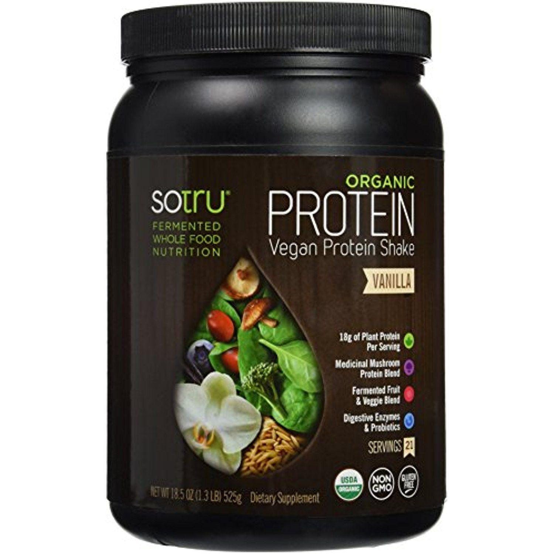 SoTru Organic Protein Shake, Vanilla, 525 Gram Click