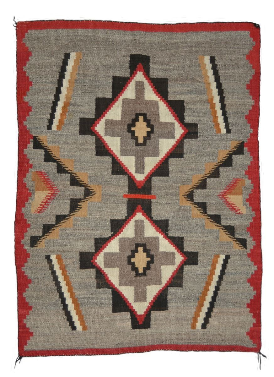 Red Mesa Outline Navajo Rug - Old West Events