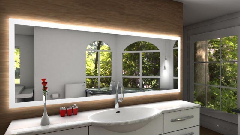 Badspiegel LED Badezimmerspiegel Bad Spiegel Wandspiegel nach Maß in ...