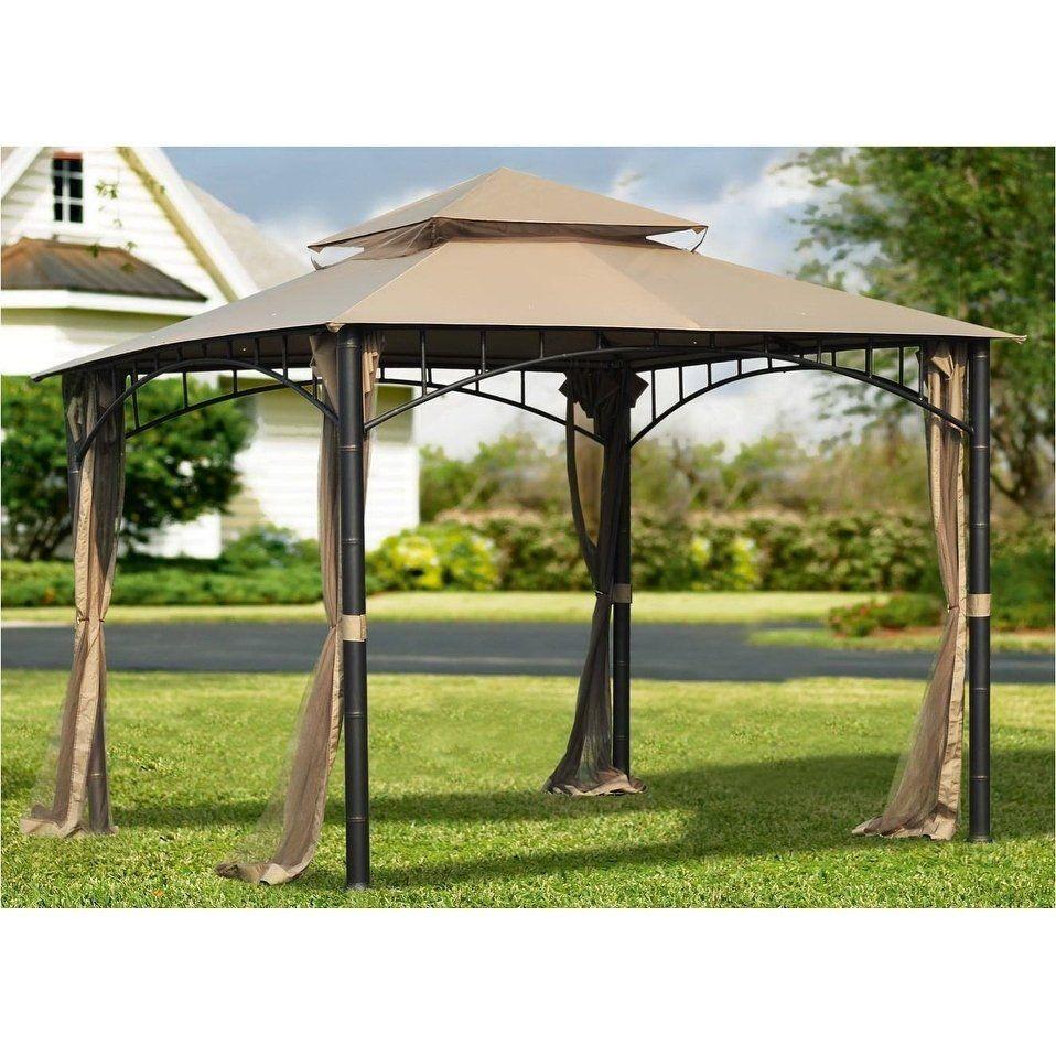 Sunjoy Replacement Canopy Set For Gazebo Model L Gz136pst 9c Brown Polyester In 2020 Gazebo Replacement Canopy Outdoor Gazebos Canopy Outdoor