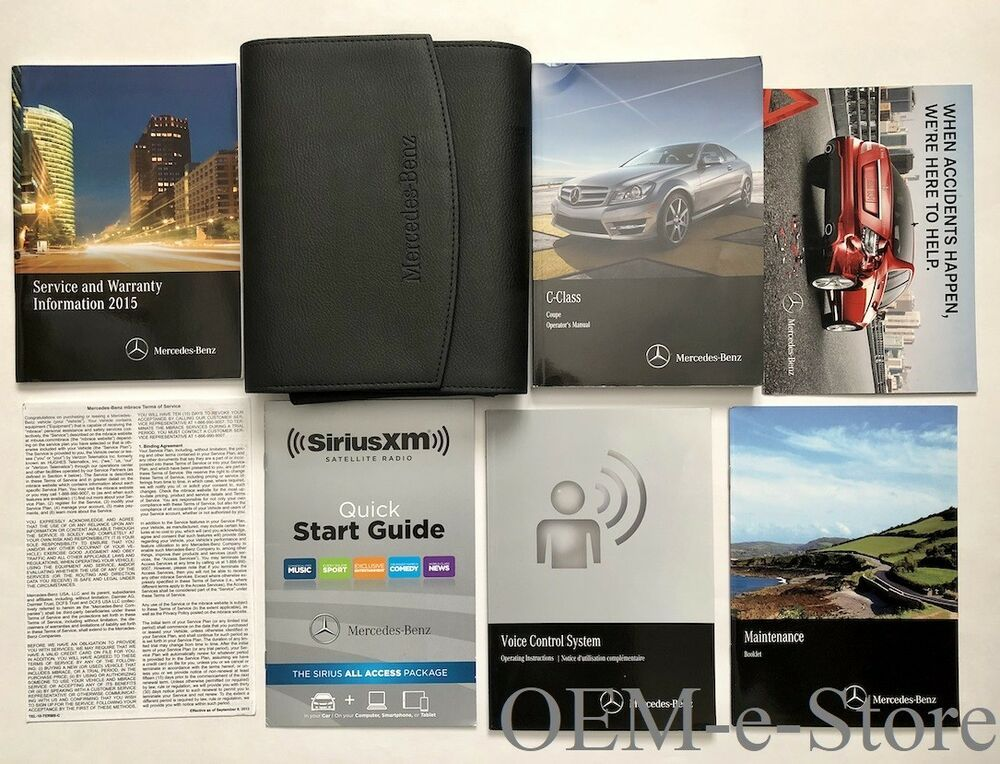mercedes benz c class owners manual 2015