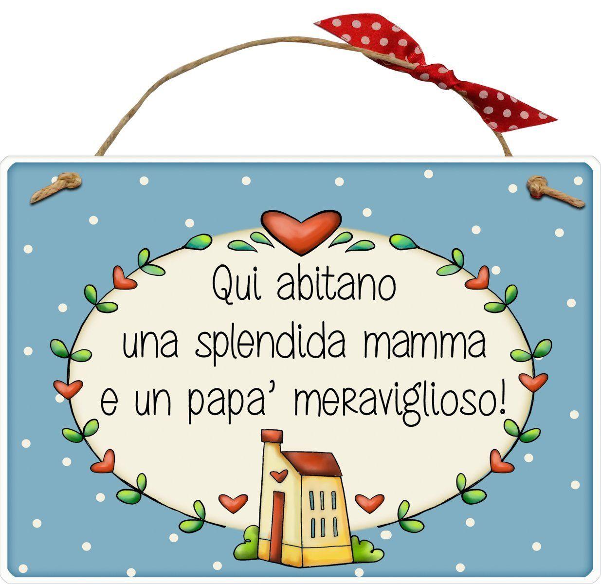 idea regalo Targa con spago PAPA sei proprio speciale