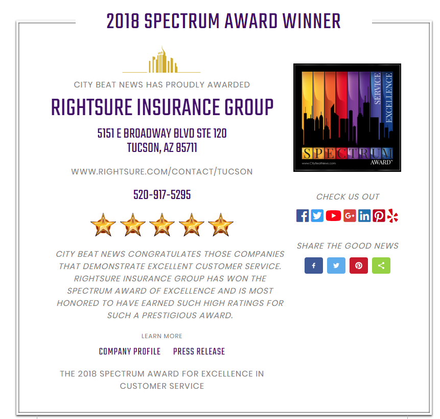 Rightsure Has Received The 2018 Spectrum Award For Excellent