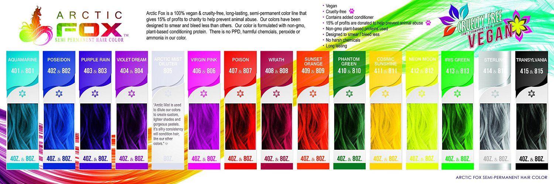 Arctic Fox Hair Colors Permanent Hair Dye Semi Permanent Hair Dye Dyed Hair