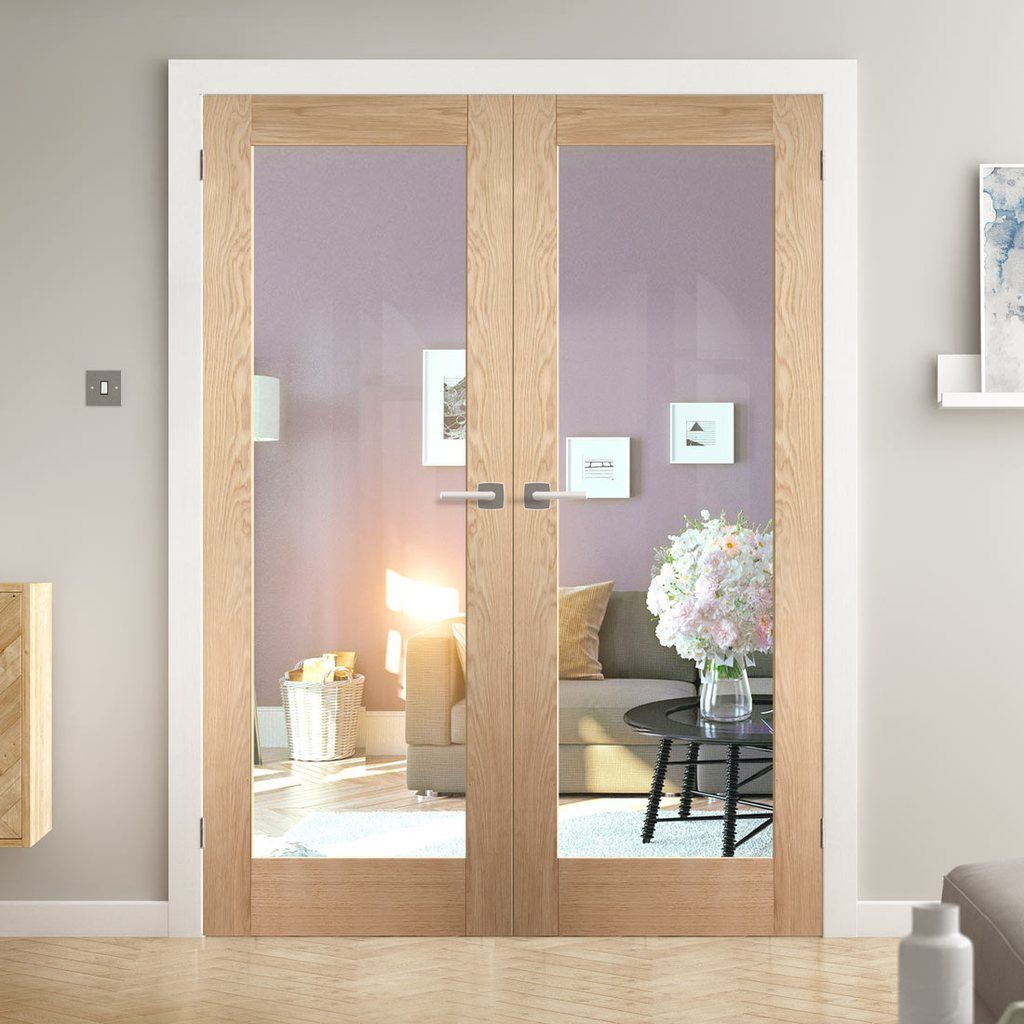 We Deliver For Free To Most Uk Mainland Postcodes The Shaker 1 Light Glazed Door Offers A Single Clear Glass Panel That Oak Doors Internal Doors Glazed Door