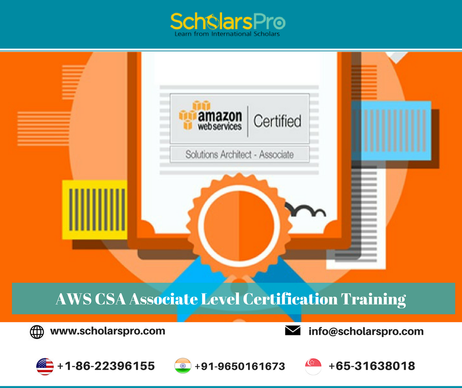 Our AWS Solution Architect Certification Training program is a cost ...