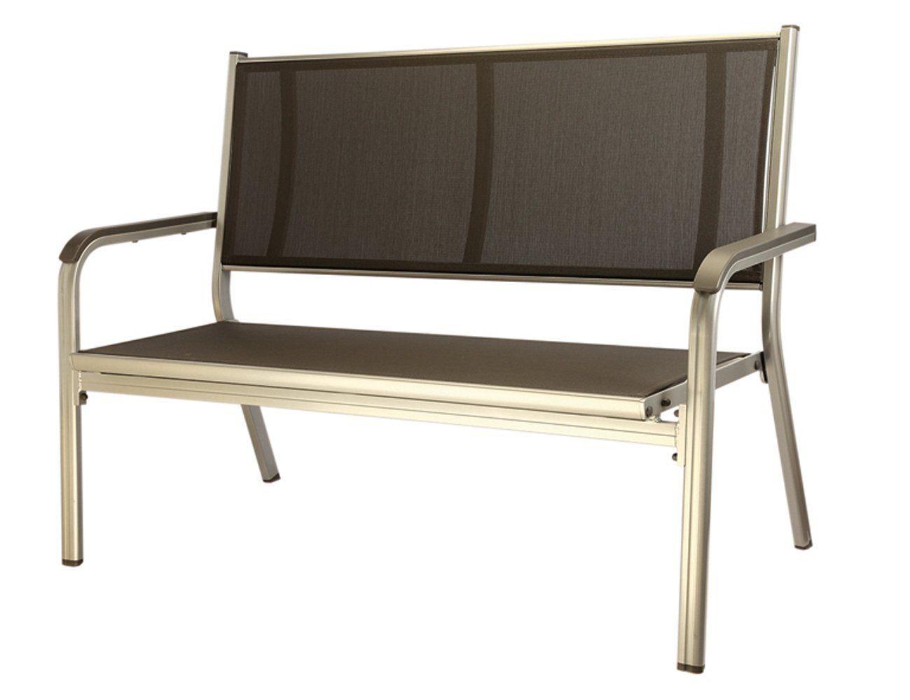 Gartenbank Kunststoff Kettler 2 Sitzer Basic Silber Anthrazit Modernes Design Aussenmobel Gartenstuhle