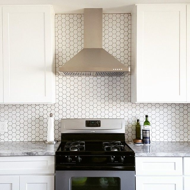 Bright White Kitchen With A Plain And Simple Backsplash Hex