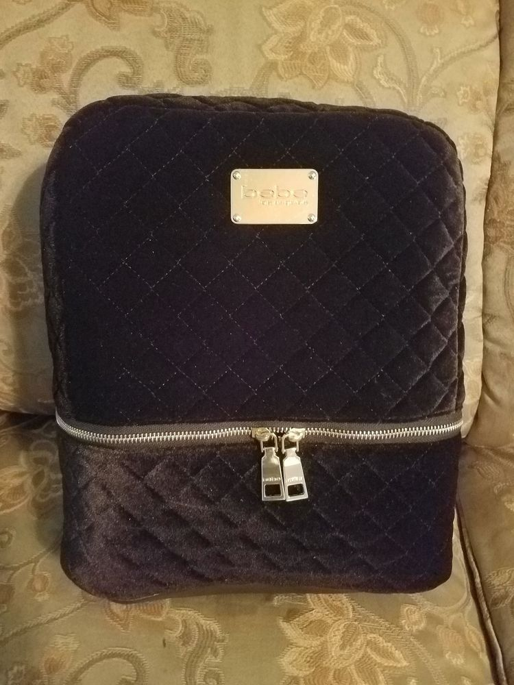32fcb420a9b4 BEBE Danielle velvet Backpack black MSRP  109  fashion  clothing  shoes   accessories  womensbagshandbags (ebay link)