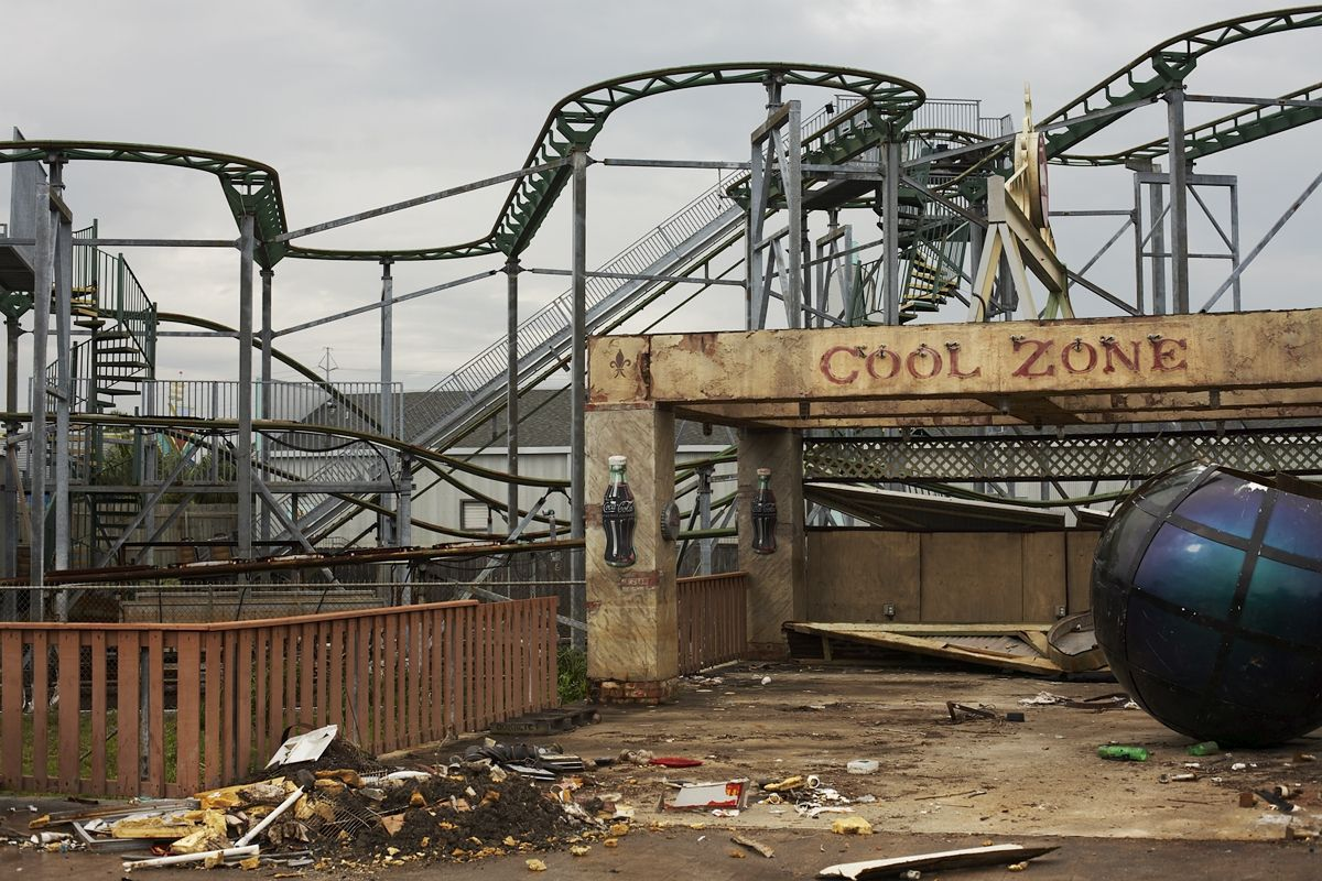 Abandoned after Hurricane Katrina in New Orleans Louisiana The Cool Zone was once an attraction at Six Flags now long lost and forgotten wasteland - Very stunning picture and photography of those places we so easily tend to forget