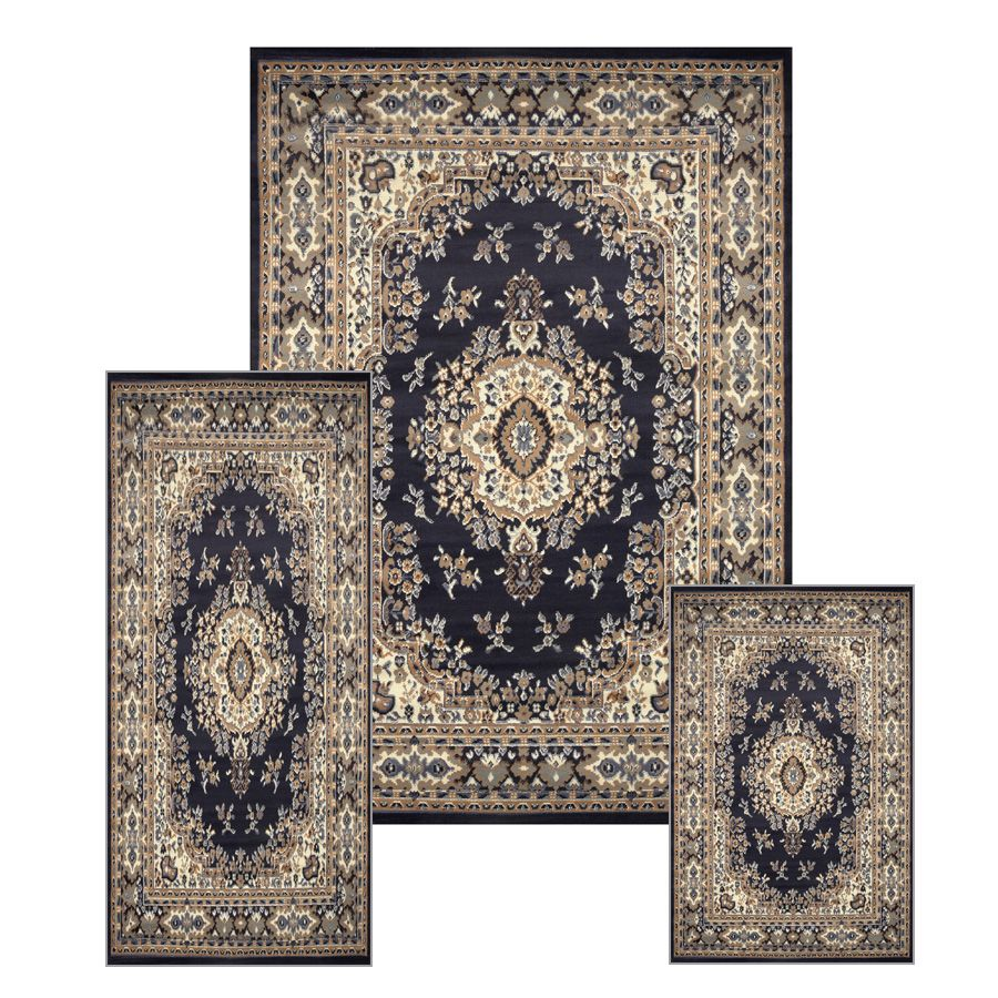 rug persian navy area blue abc kashan floral rugs shop
