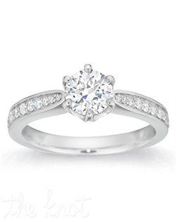 Perfect... Gemesis Gemesis Pave-Set Round Engagement Ring