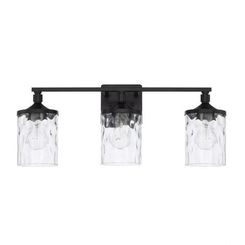 Photo of Colton Vanity in gealtertem Messing | Beleuchtungsanschluss