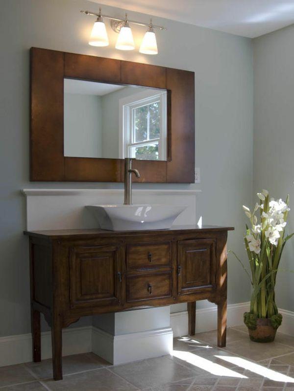 badezimmer-spiegel mit-einem-rahmen - 30 super Ideen für kreative - spiegel badezimmer mit beleuchtung