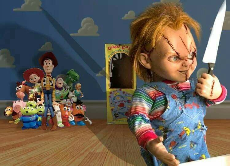 chucky comes to toy story 4 halloween in 2019 arte