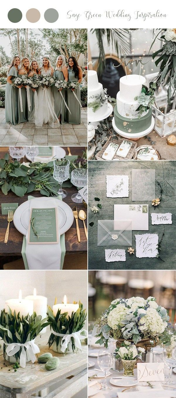 Wedding decorations to make february 2019  Sage Green Wedding Ideas for  Trends  Haley  Pinterest