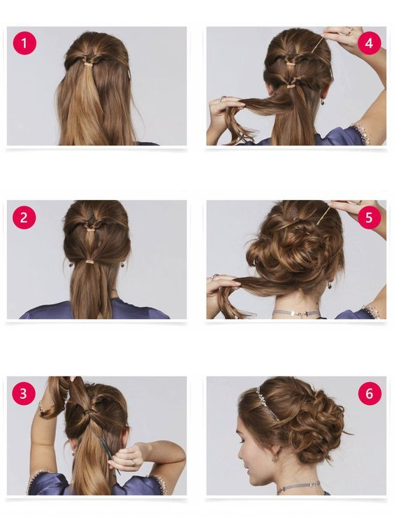 Princess Updo Mittellange Haare Frisuren Einfach Frisur Hochgesteckt Hochsteckfrisuren Mittellang