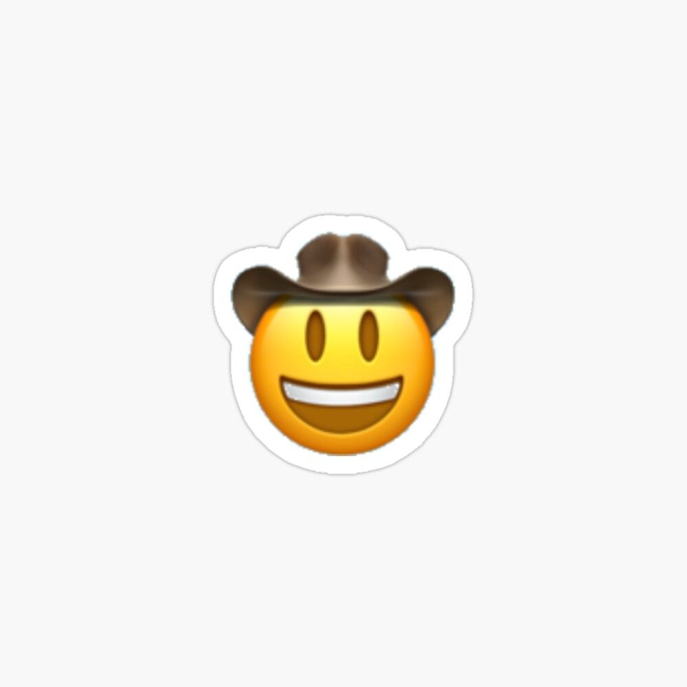 Get My Art Printed On Awesome Products Support Me At Redbubble Rbandme Https Www Redbubble Com I Sticker Cowboy Emoji By Ale Emoji Stickers Stickers Emoji