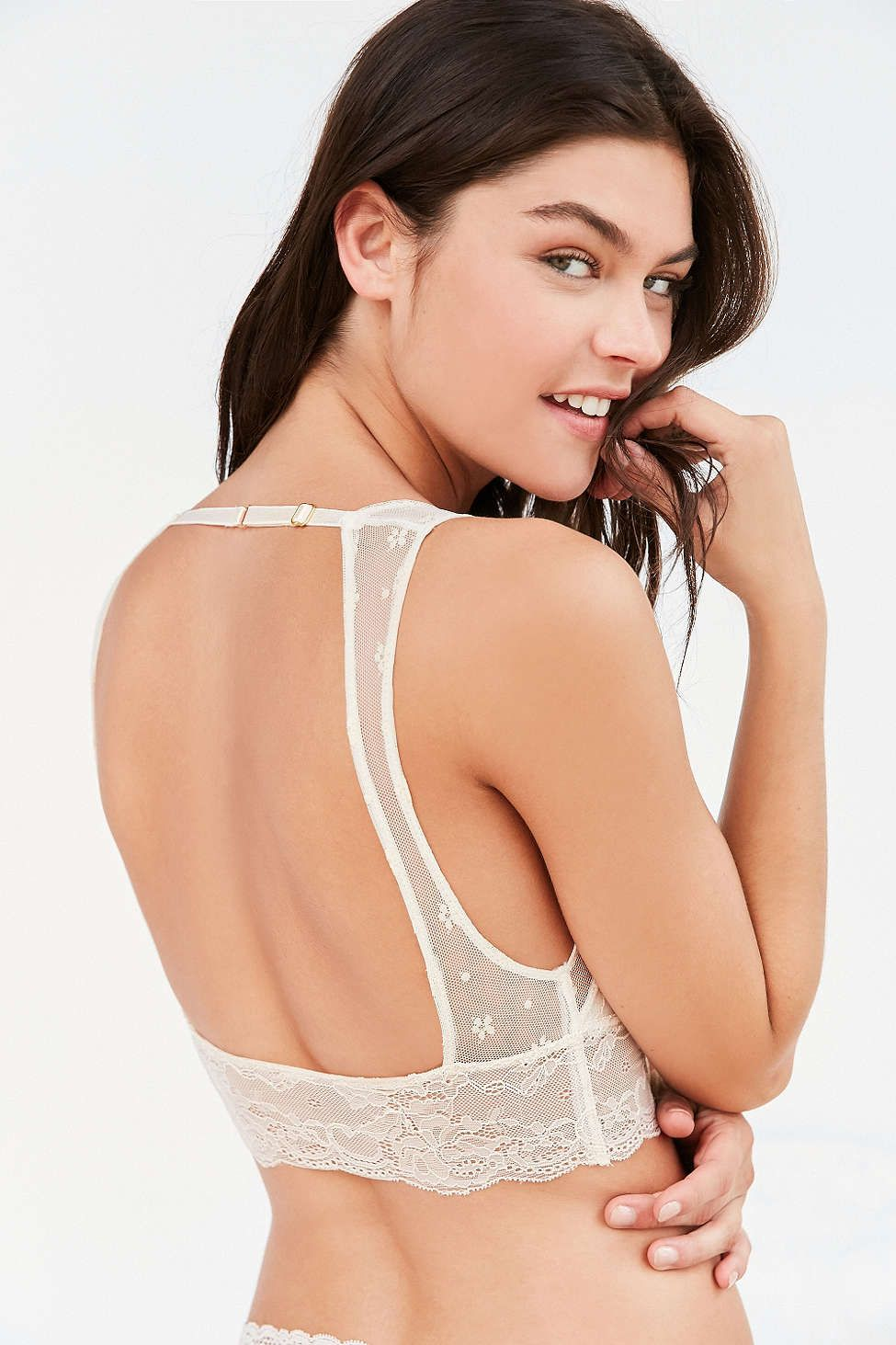ec560e623a116 Out From Under Cher Open Back Longline Bra - Urban Outfitters ...