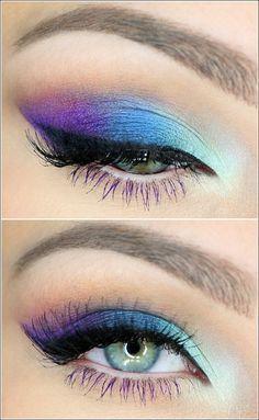 Wer wird hypnotisierende Augenschminke mit Pfau inspirieren? Ich werde das SO versuchen #makeupeyeshadow