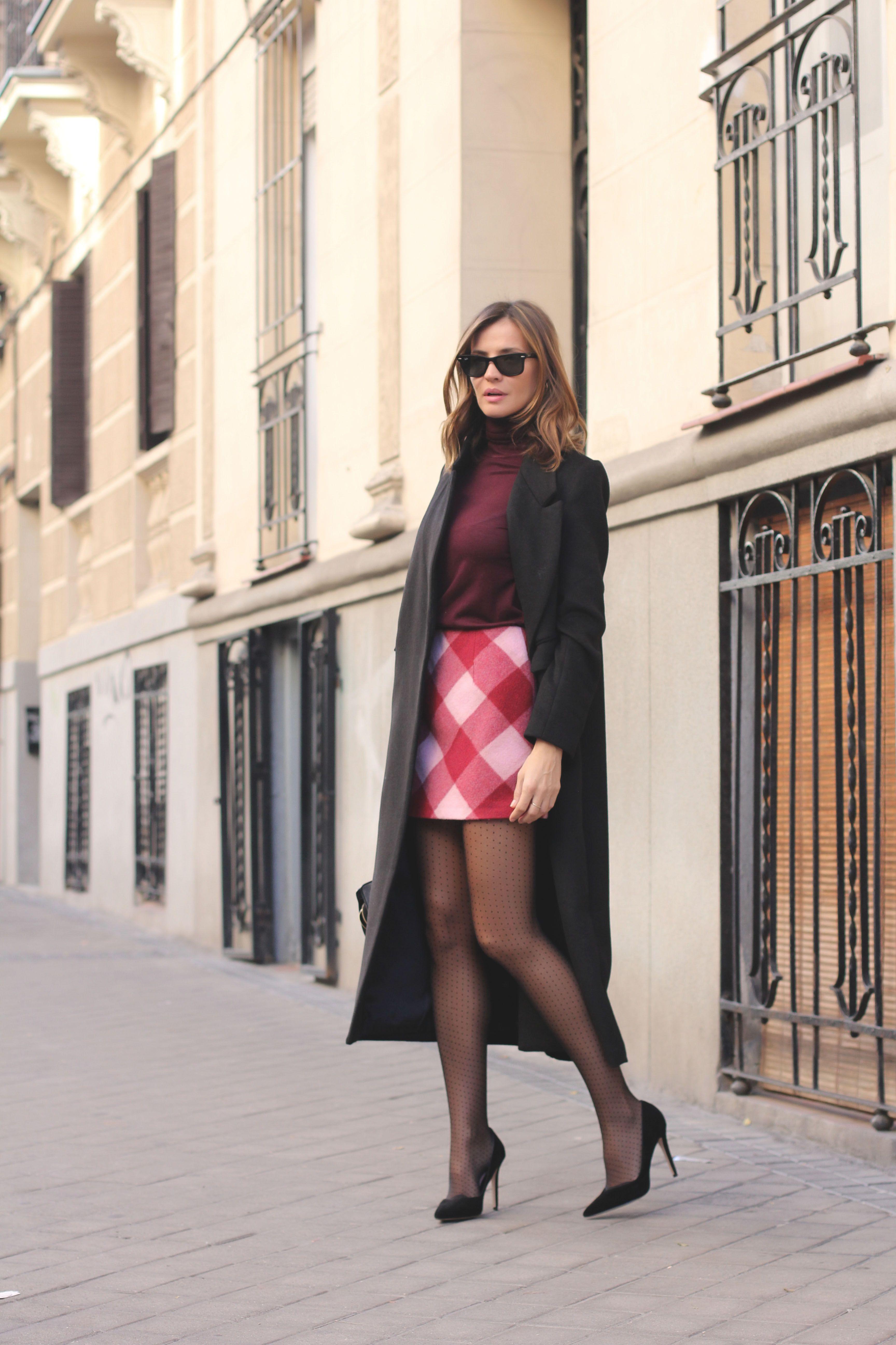 sale retailer ff2d2 45e31 checked mini nel 2019 | Blogger Outfit 1 | Donna, Minigonne ...