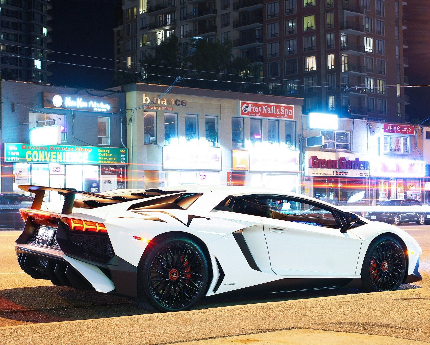Lamborghini Aventador Super Veloce Coupe Painted In Bianco