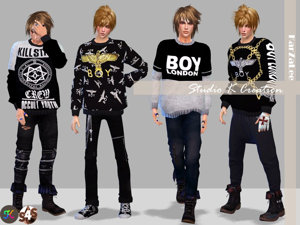 71b667134 Boy London Sweatstandalone / 22 colors / new mesh by me / work for base  game / fit to all bodyMediafire download OR Baidu downloadChild version  hereToddle