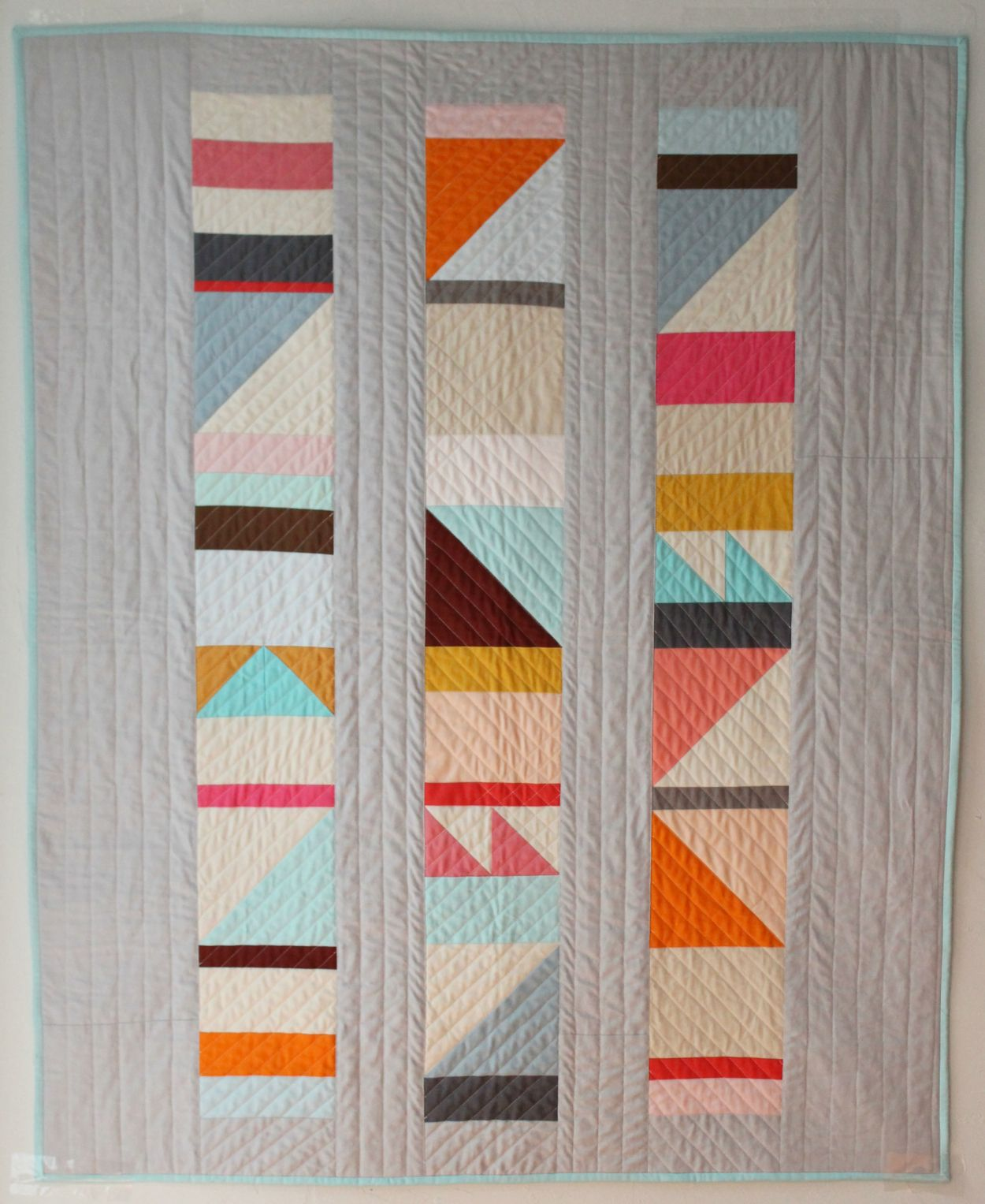 This baby quilt was inspired by the the beautiful geometric ... : modern baby quilt patterns - Adamdwight.com